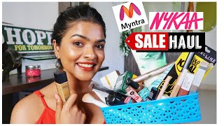 Myntra Beauty Edit Sale + Nykaa Store Haul | Bought My True Maybelline Fit Me Foundation Shade