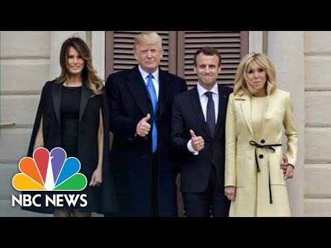See President Donald Trump, First Lady, Welcome France's President Macron!