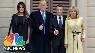 President Donald Trump, First Lady, Welcome France's President Macron | NBC News