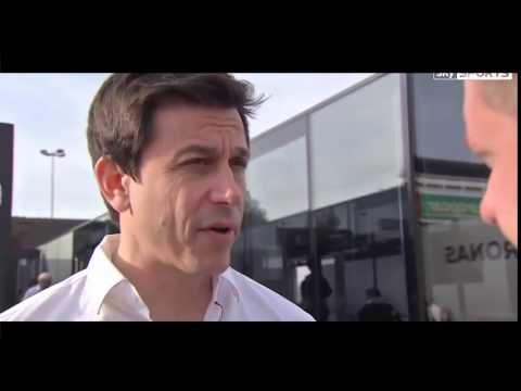 Formula 1 2015 Test Barcelona Toto Wolff  Interview