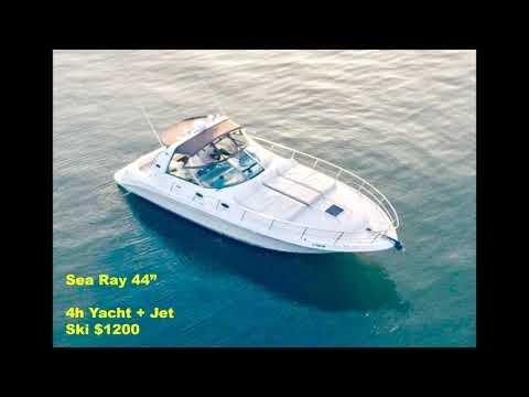 Yacht Rental With Jet Ski Included In Miami
