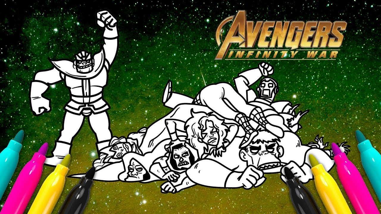 Thanos Vs Avengers Coloring | Infinity War Coloring Page ...