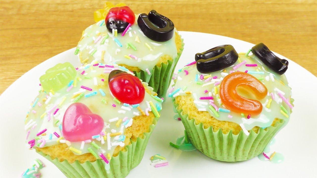 Fr hlings muffins dekorieren s e idee f r kinder party geburstags idee fun youtube - Muffins dekorieren ...