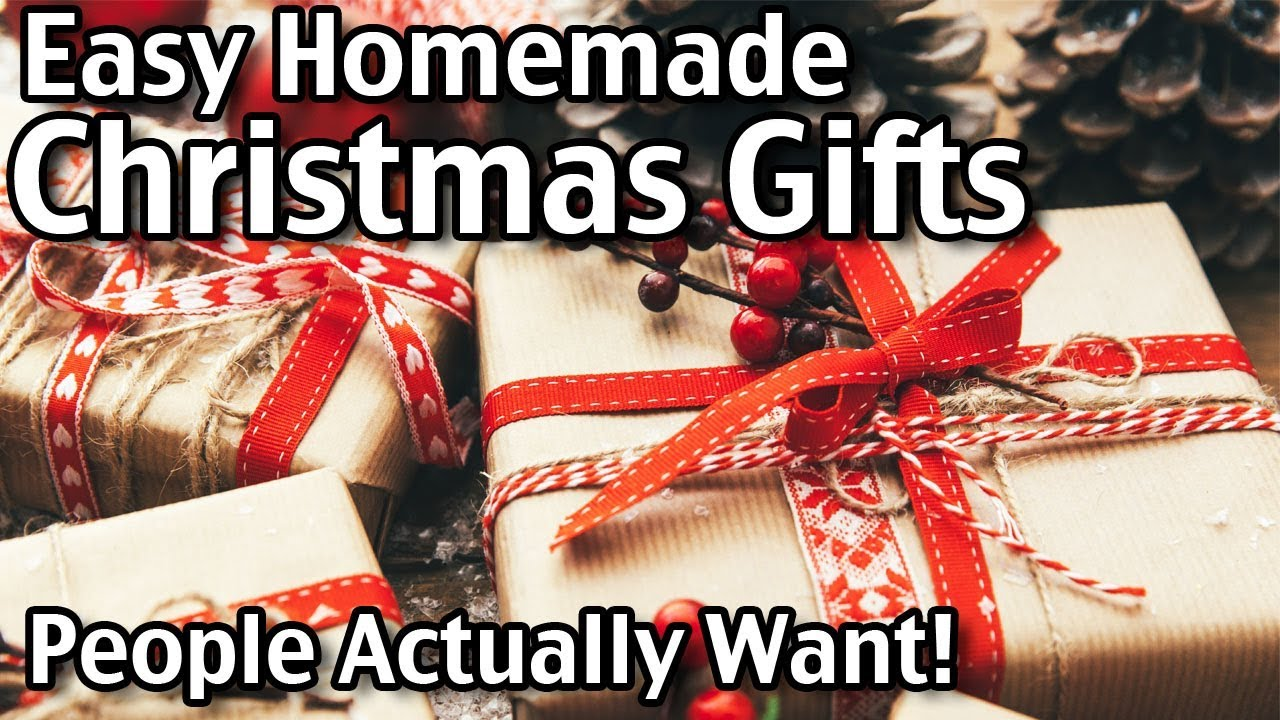 5 Homemade Christmas Gifts People Actually Want Easy Diy Gifts
