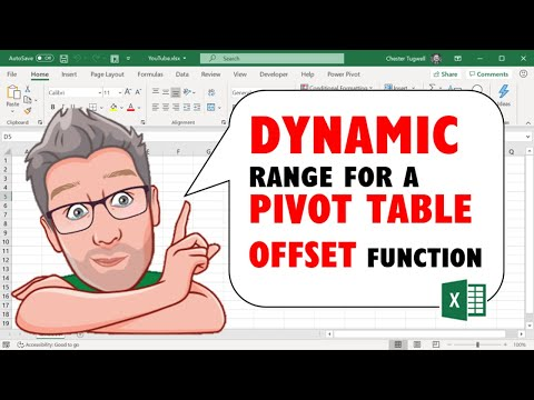 Creating a Dynamic Range for a Pivot Table Using the Offset Function