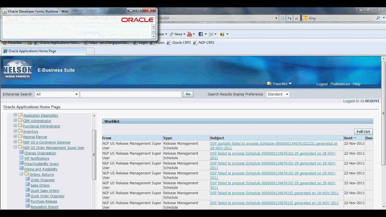 Oracle Login Process avi