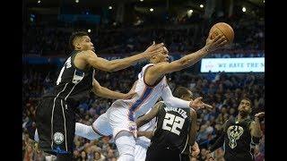 Oklahoma City Thunder vs Milwaukee Bucks Full Game Highlights   Oct 31 2017   2017-18 NBA season