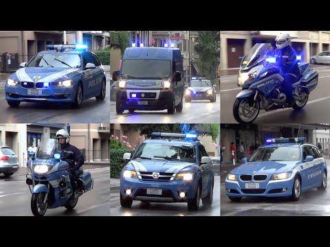 "Mezzi Polizia al Giro d'Italia 2016 - Italian Police vehicles escorting ""Giro d'Italia"""