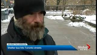 Global News coverage of Shelter Bus