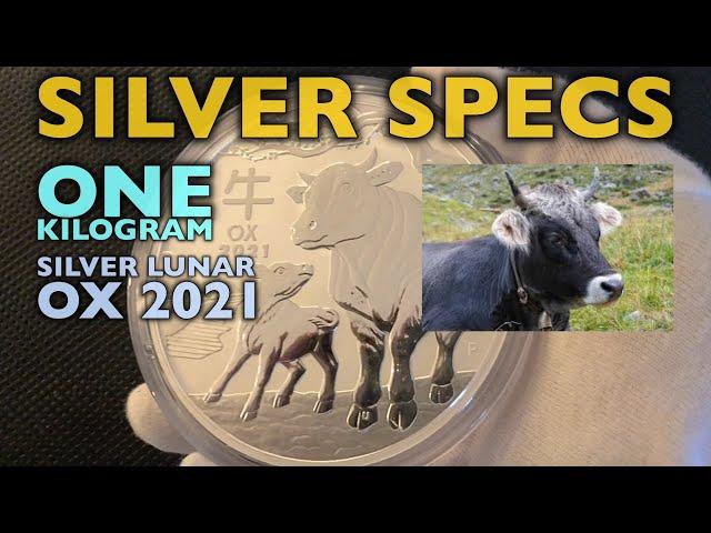 SILVER SPECS  1 kg Silver Lunar Ox 2021
