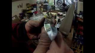 "3"" double hollow grind custom knife making of a small dagger"