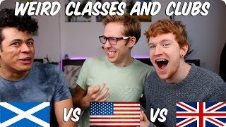 Weird School Subjects and Clubs! | British VS American