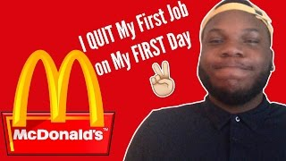 Quitting Mcdonalds on My FIRST DAY | Storytime HeIsArmani