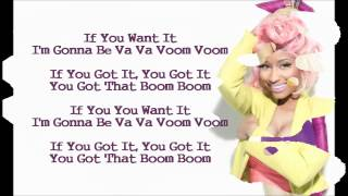 Nicki Minaj - Va Va Voom (Lyric Video)