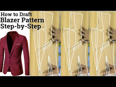 DIY Blazer Pattern Marking And Cutting How To Make Blazer Mesmerizing Mens Blazer Pattern