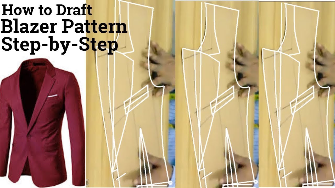 Download [how to make a blazer pattern]   how to make a men's suit jacket   pattern making for beginners