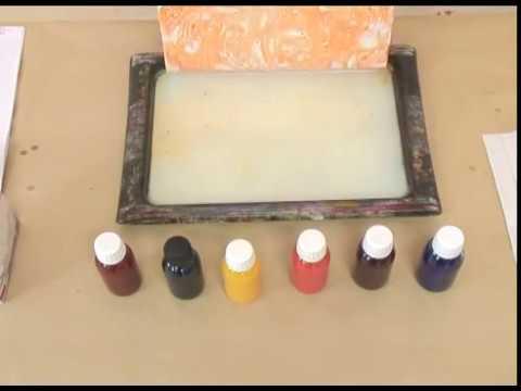 Fabrication de papier marbr par l 39 atelier du livre youtube - Comment faire briller du marbre noir ...