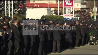NYPD OFC RAMOS FUNERAL-OFFICERS TURN THEIR BACKS