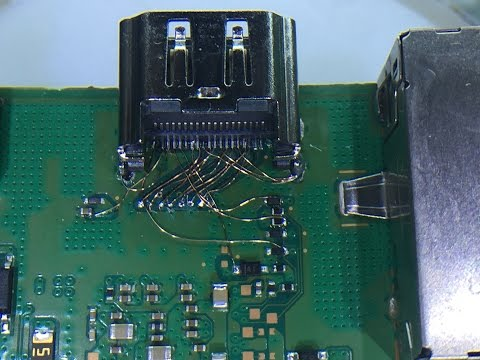 PS4 Hdmi Traces Pins Repair By ALZAABI تصليح مسارات البلايستيشن 4 لمدخل الفيديو