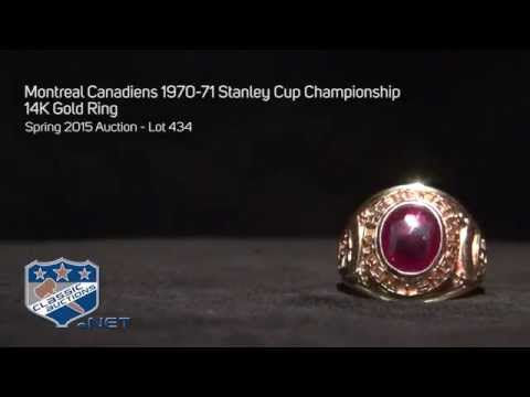 Montreal Canadiens 1970-71 Stanley Cup Championship 14K Gold Ring