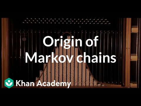 Origin of Markov chains | Journey into information theory | Computer Science | Khan Academy