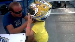 rubie aged 5 go-karting at club bellevue, alcudia september 2012