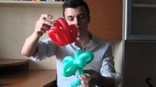 Стебель цветка из шариков. Видео урок. Balloon flower stalk