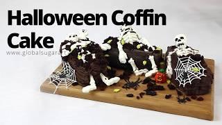 Halloween Coffin Cake with Chocolate Skeletons | Sneak Peak | Global Sugar Art