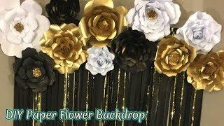Paper Flower Backdrop | Free Templates | Masquerade Theme backdrop