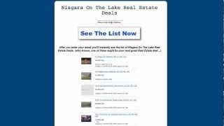 Niagara On The Lake Real Estate Deals - Search ALL Homes For Sale in Niagara ON