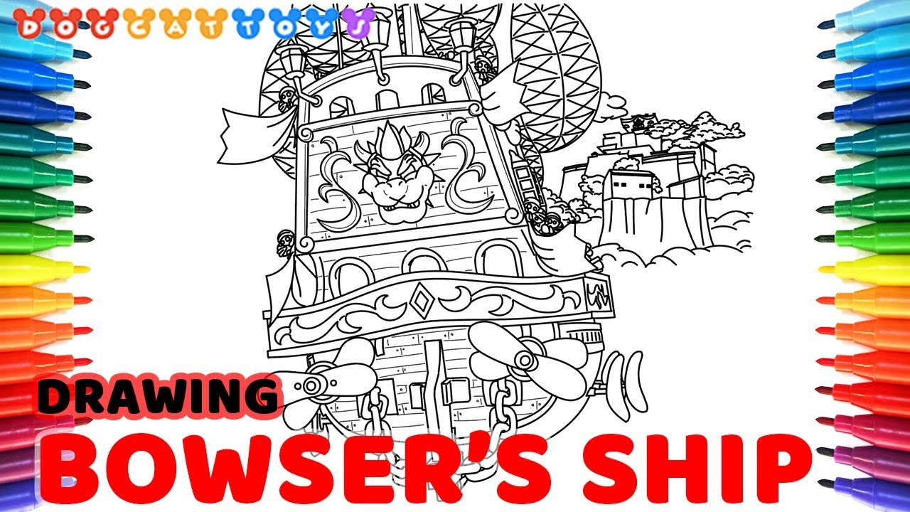 Drawing Super Mario Odyssey Bowser Ship To Castle 124
