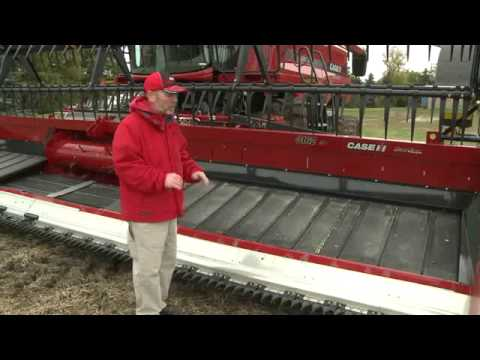 3152 3162 case ih TerraFlex draper Header Set up & Operation