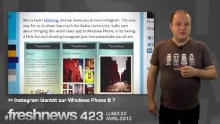 #freshnews 423 AppStore pirate. Ecole 42. Instagram sur Windows Phone 8 ? (22/04/13)