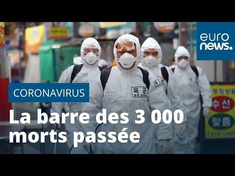 La barre des 3 000 morts du Covid-19 est passée, l'épidémie progresse en France et en Italie