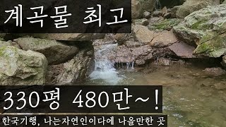 계곡물 최고! 한국기행, 나는자연인이다에 나올만한 땅이네요~ 330평 480만원(공매 임장)