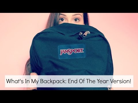 What's In My Backpack: End Of The Year Edition || BeautyChickee