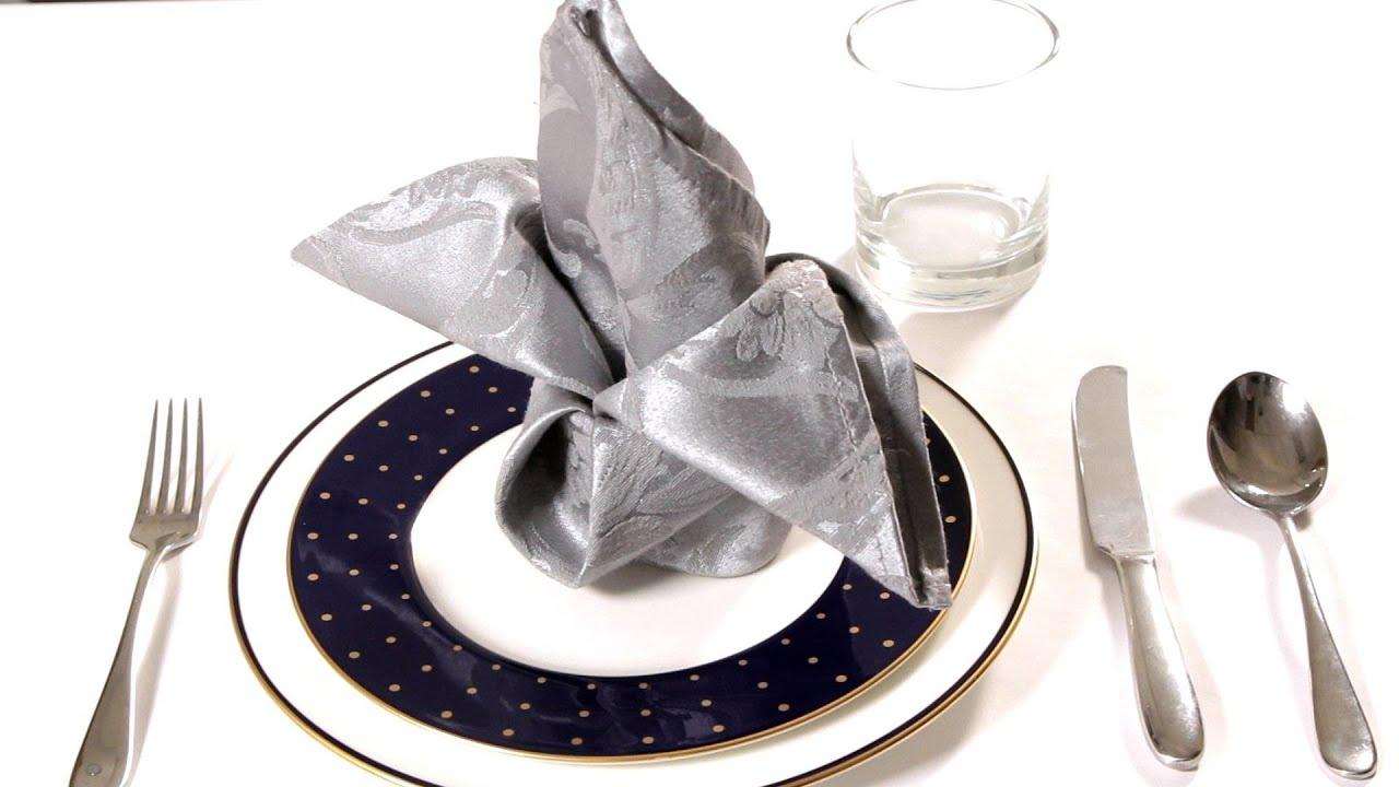 How To Fold A Napkin Into A Crown Napkin Folding Youtube