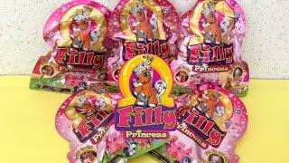 Открываем пакетики с лошадками Филли Принцессы Filly Princess