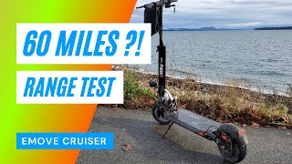 Will the Emove Cruiser Electric Scooter go 60 Miles? 100Kms? Or is it Bull &%$##