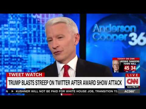 'Really  That's What the Comeback Is '  Anderson Cooper Slams Trump For His Streep 'Overrated' Tweet