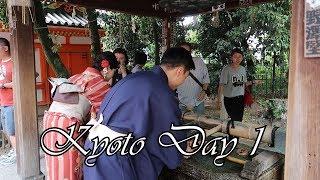 Kyoto Day # 1 (Ichiran ramen review at the end!)  Kyoto, Japan Vlog # 1