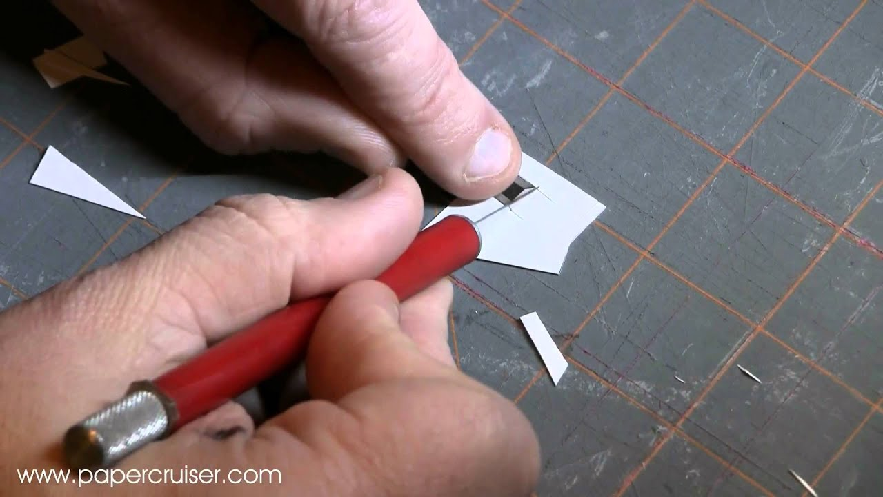 Papercraft Paper model tutorial: how to cut out very small parts