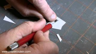 Paper model tutorial: how to cut out very small parts