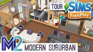 Sims FreePlay Modern Suburban Family House Original Design YouTube