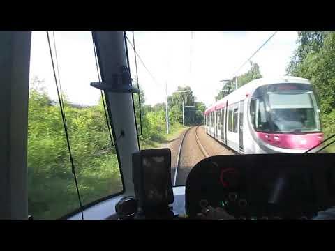 Midland Metro Driver's Eye View - Soho Benson Road to Dudley Street Guns Village