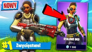 "💥 - NOUVEAU - EPIC SKIN ""STEEL EYE"" GAMEPLAY! Fortnite (Bataille Royale)"
