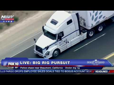 FULL: Epic Police Chase - STOLEN BIG RIG Through Southern California
