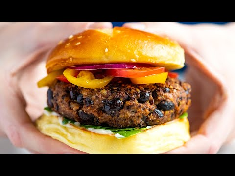 Featured Recipe Spicy Black Bean Burgers
