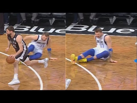 Luka Doncic Gets Weirdly Ankle Broken By Joe Harris Mavericks Vs Nets Youtube