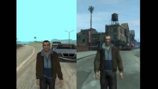 GTA SA vs GTA IV (car bailout)